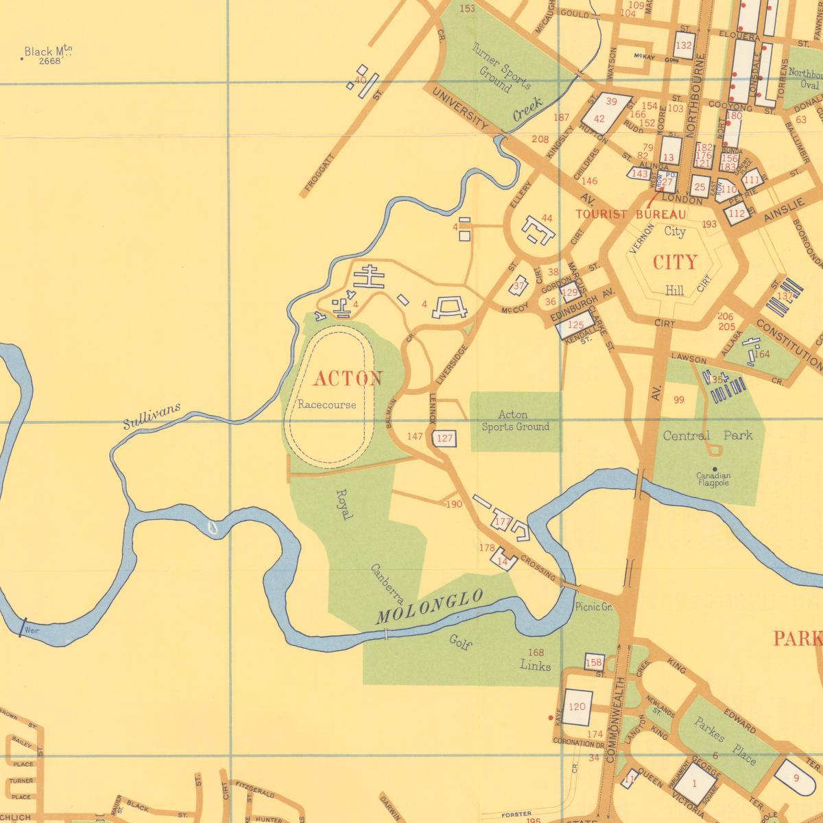 Acton Map 1958 to 1959 Sunken Stories of Old Acton